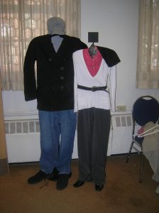 Clothing displayed at Black Bear Exchange