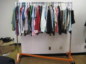 Clothing rack at Black Bear Exchange
