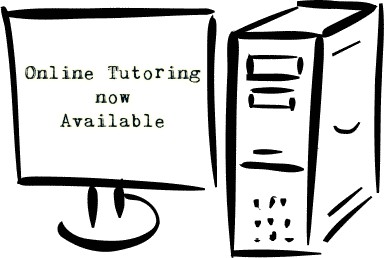 Online Tutoring now Available graphic of a computer