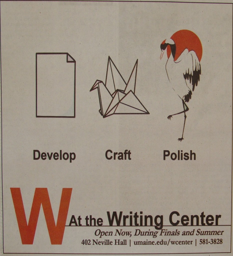 Writing Center Advertisement