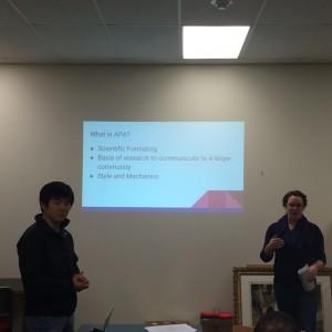 Zhen Zhang and Lindsey Bailie present
