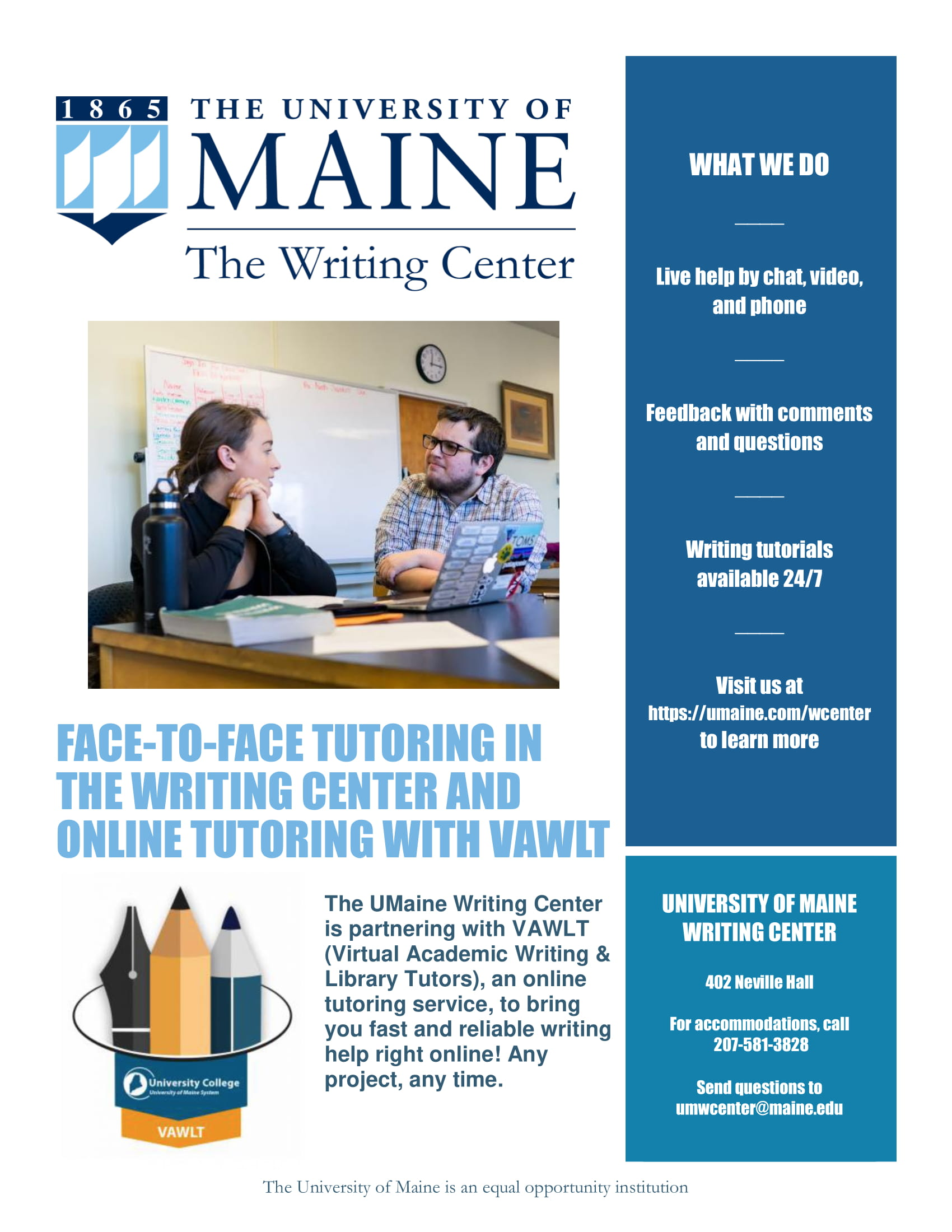 online writing centers The writing center assists with all writing projects, including multimedia projects, at any stage of development our services are free and available to anyone in the university of iowa community.