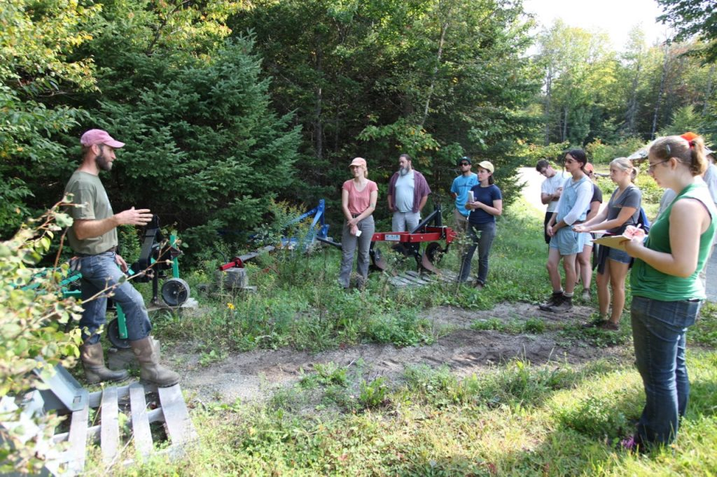 Weed Ecology class in the field
