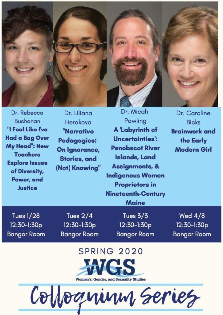 Flyer for Spring 2020 Colloquium Series
