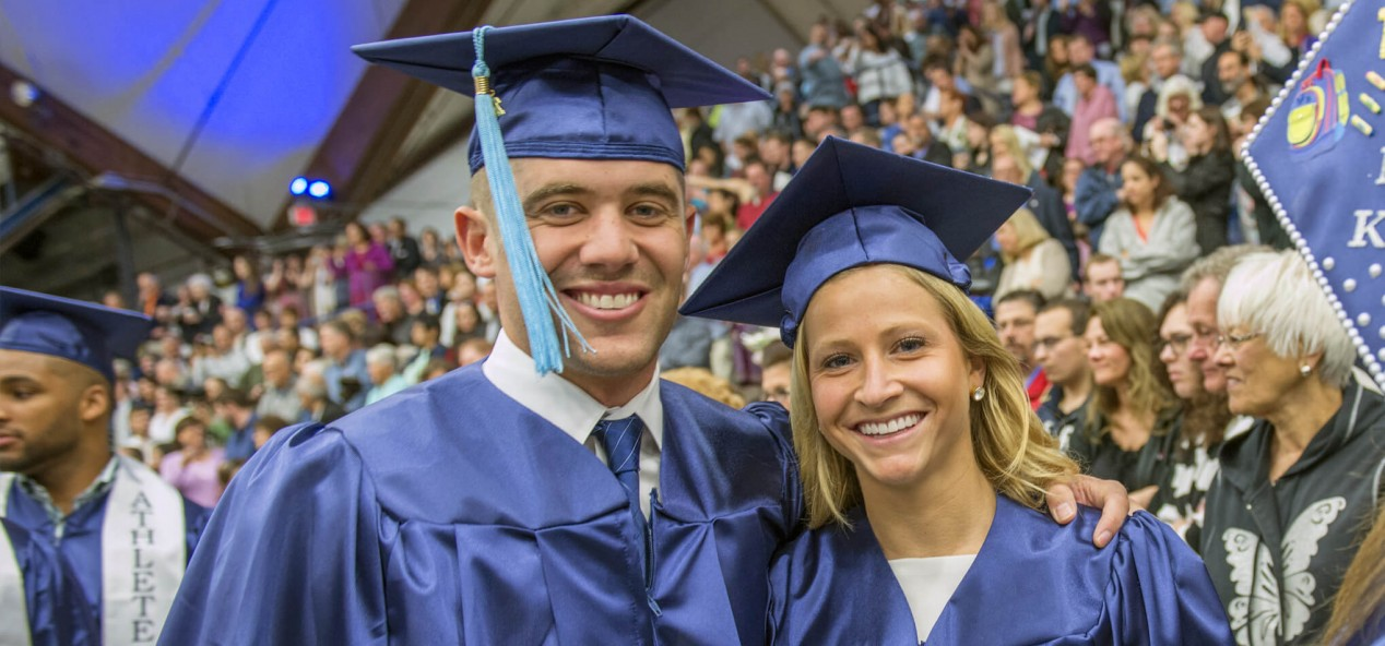 Graduates at UMaine's Commencement in 2015