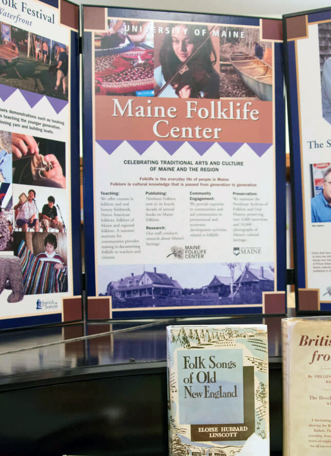 Maine Folklife Center display boards