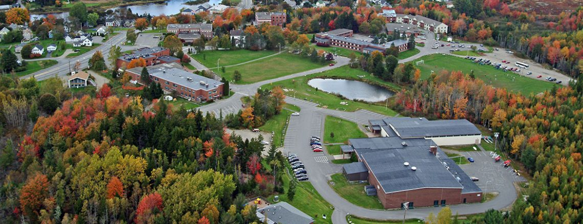 Aerial view of UMaine Machias campus