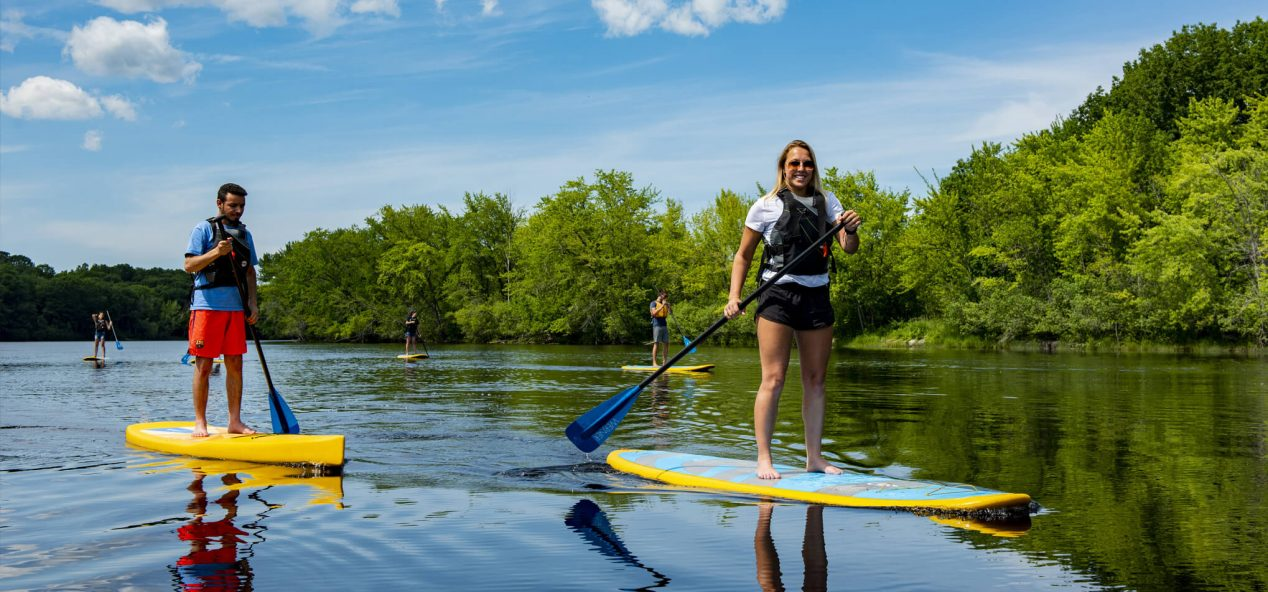 Paddleboarding on the Stillwater River