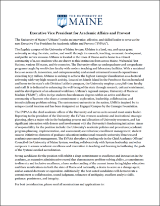 Thumbnail of 2020 provost search announcement document