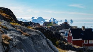 Coastal town in Greenland