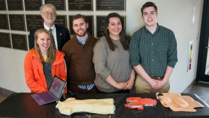 Bioengineering students and their capstone project